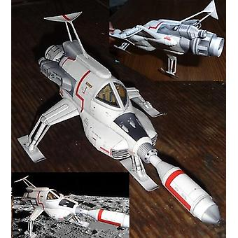 Ultra - Fin, Intercropped Lunar rymdfarkoster-3d Paper Modell