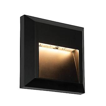 Saxby Severus - Integroitu LED 1 kevyt ulkoseinä Vaalea Musta Abs Muovi, Kirkas IP65