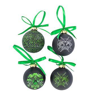 Xbox Glas Weihnachtsbaum Kugeln lizenziertGaming festliche Ornamente Set von 4