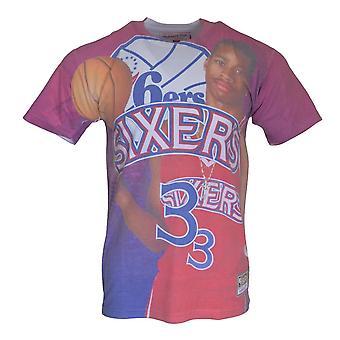 Mitchell & Ness City Pride MN Philadelphia 76ERS Allen Iverson BMTRKT18007P76RED1IV basquetebol todo o ano