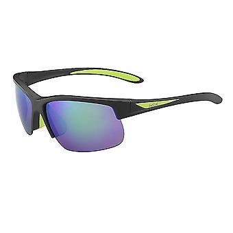 Bolle Breaker Polarized Sunglasses, Matte Black/Emerald 12111