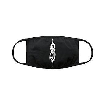Slipknot Logo Máscara de Cara de Algodón Negro