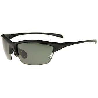 Wakely - Polarized Shatterproof Lens Half-Frame TR-90 Sports Wrap Sunglasses 68mm
