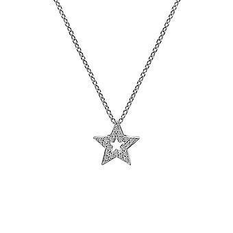 Heta diamanter Sterling Silver Star Micro Bliss hänge DP697