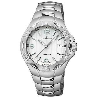 Candino Swiss C4462-1 Men's Titanium Bracelet Wristwatch With Date