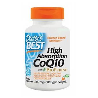 Doctors Best High Absorption COQ10 with Bioperine, 200 mg, 60 Softgels