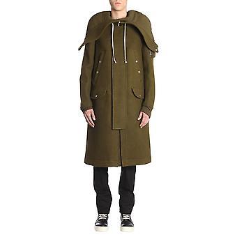 Rick Owens Ru18f1980wb95 Men's Green Wool Coat