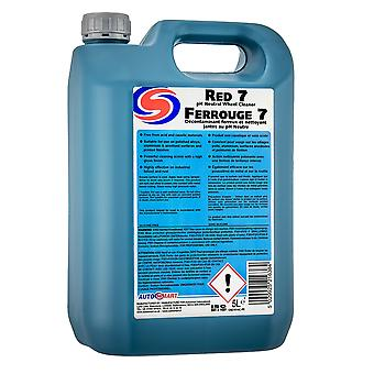Autosmart red 7 alloy wheel cleaner ph neutral fallout remover 5 litre