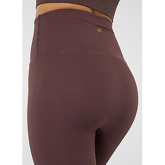 Jerf  Womens Sanibel Brown Seamless Active Leggings Econyl