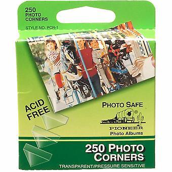 Pioneer Self Adhesive Photo Corners - 250pcs - Clear