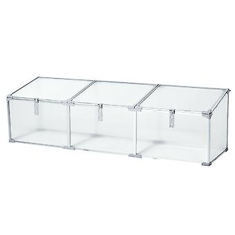 Outsunny Outdoor Greenhouse Polycarbonate Grow House Flower Vegetable Plants Raised Bed Garden Aluminum Cold Frame 180 x 51 x 51 cm