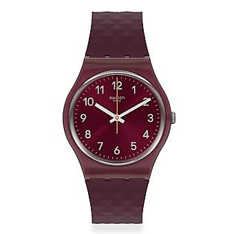 Swatch Gr184 Rednel Red Silicone Watch