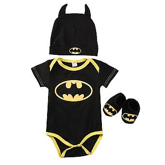 Jumpsuits Newborn Baby Clothes Batman Rompers + Shoes + Hat Costumes
