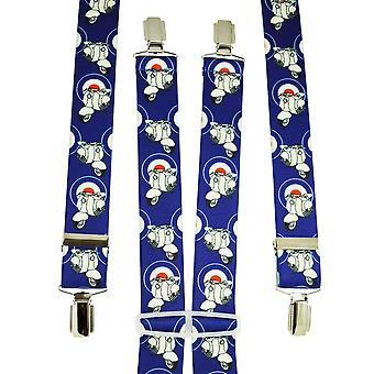 Ties Planet Royal Blue Scooter & Roundel Men's Trouser Braces
