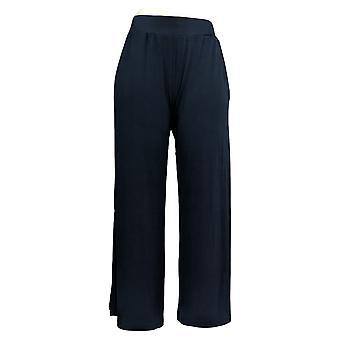 G.I.L.I. consiguió que les encanta Mujeres's Petite Pantalones Laterales Slit Azul A353516