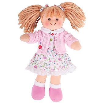 """Bigjigs toys poppy doll 28cm (11"""") - ragdoll cuddly toy"""