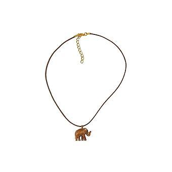 Halsband Elephant Brun