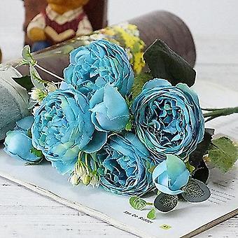 Bridal Rose Wedding Bouquet, Bridesmaid Artificial Silk Flower Arrangement,