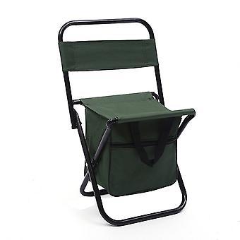 Green Oxford Cloth Waterproof Coating Steel Pipe Multifunctional Folding Chair