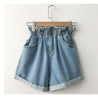 Zomer Hoge Taille Denim Shorts Casual Loose Ladies Fashion Roll Up Hem Jeans