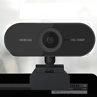 Mini Rotatable Hd 1080p Webcam Computer Pc Web Camera With Microphone Cameras