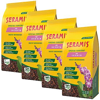 Sparset: 4 x SERAMIS® special substrate for orchids, 2.5 liters