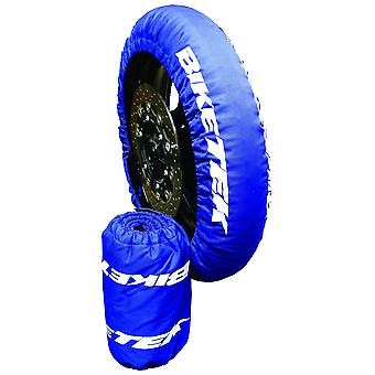 BikeTek Motorcycle Tyre Warmers UK 3 Pin Plug 120 70-17 Front 180 195 Rear Pair