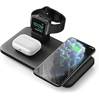 Seneo Wireless Fast Charging Station, 3 in 1 Wireless Charger, 7.5 W for iPhone 8 to iPhone 11 Pro