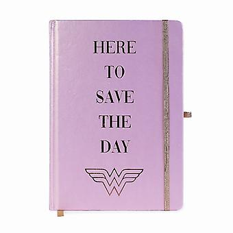 Wonder Woman Here to Save the Day A5 Notebook