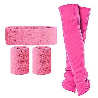 Kuou 5 κομμάτια θερμοκοιτίδων πόδι που, νέον headband βραχιολάκια πόδι θερμοκοιτίδων 80s γυναικεία αξεσουάρ που για 19