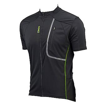 Eigo Trek Mens Short Sleeve Cycling Jersey Black / Green