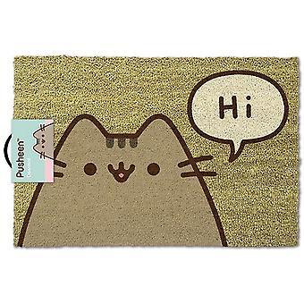 Pusheen Says Hi Door Mat