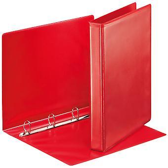 Esselte 49731 Essentials Presentation Binder 4 D Ring 25mm Capacity Red