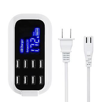 8A 8 ポート USB 高速充電スマート バッテリー 充電器 ハブ 電話