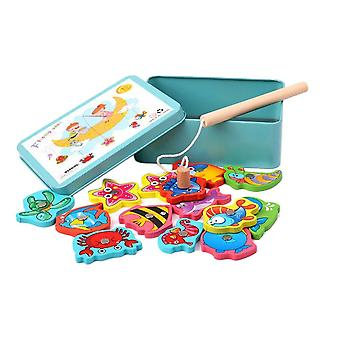 Electric Iron Boxed Kids Magnetic Fishing Set With Music And Light
