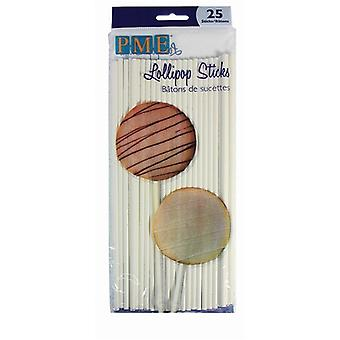 PME Lollipop Sticks 200mm 25 pack