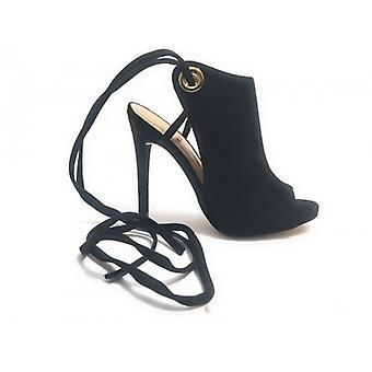Liu-jo HeelEd Shoes Modelo Okiku Em Camurça Preta Ds17lj02