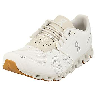 On Running Cloud Mens Running Trainers in White Sand