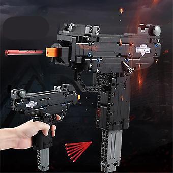 Desert Eagle Pistol Mk23 Pistol Uzi Submachine Gun (black)