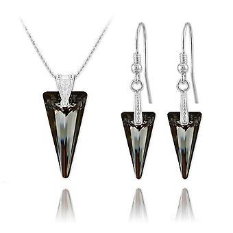 Zilveren nacht zilveren hanger ketting sieraden set