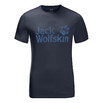 Jack Wolfskin Brand Logo Tee - Night Blue