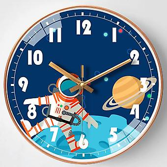 Silent cartoons modern wall clock for living room home office 10 inches smdz-45