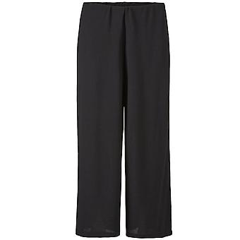 Masai Clothing Pam Black Wide Leg Culottes
