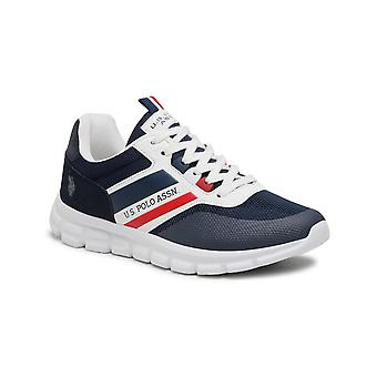 Shoes U.S. Polo Sneaker Gary 125 Ecosuede/ Dark Blue Fabric Men's Us21up16