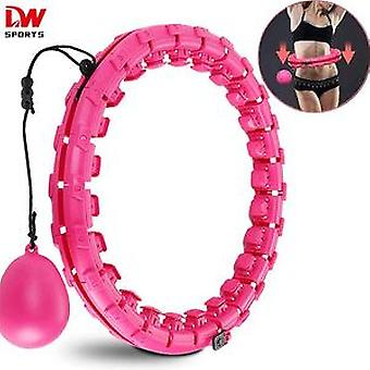 Dw Sports Adjustable Size 52 Inch Hula Ring, Indoor Aerobic Fitness Smart Hula Hoops