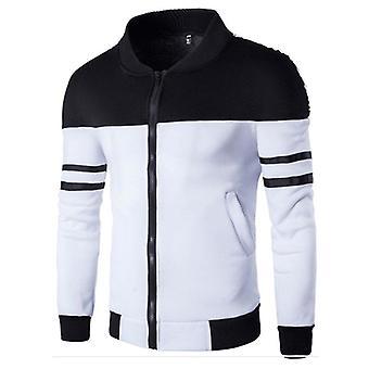 Stripe Color Matching Slim Jacket