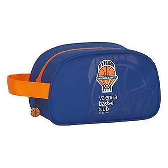 School Toilet Bag Valencia Basket Blue Orange