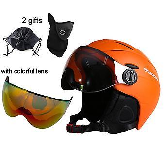 Gafas casco de esquí moldeado integralmente