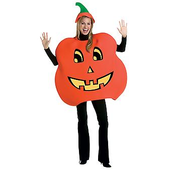 Adult Halloween Pumpkin Jack-O-Lantern Fancy Dress Costume