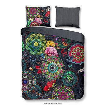 bed linen abbra 200 x 220 cm cotton satin multicoloured